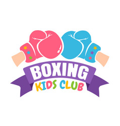 boxing kids club vector image