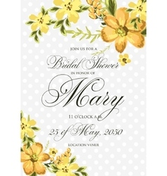 Bridal Shower Invitation with hibiskus flowers vector image vector image