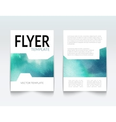 Business brochure report design template vector image