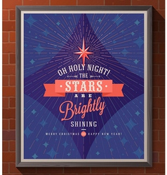 Christmas poster with type design vector