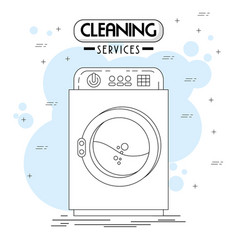 Cleaning services emblems and logos vector