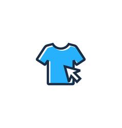 cloth shopping logo icon design vector image