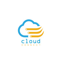 cloud connect logo vector image
