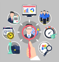 Coaching and business concept vector