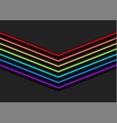 colorful rainbow neon arrows abstract background vector image