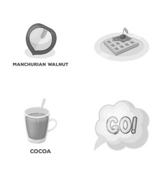 Cooking drink and other monochrome icon in vector