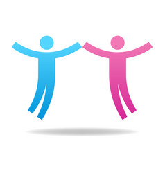 couple icon teamwork concept male and female vector image