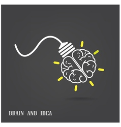 Creative brain Idea concept background design vector image