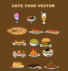 Cute Food vector image