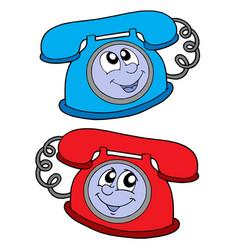 Cute telephones vector
