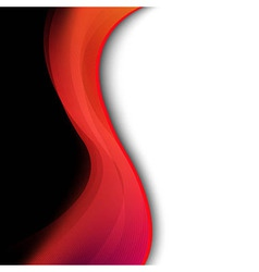 Dark Red Background With Abstract Line vector image