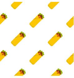 Doner kebab pattern seamless vector