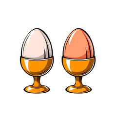 Eggs holder icon eggs-cup vector