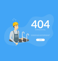 Error page not found web page template vector