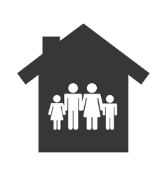 family insurance concept icon vector image