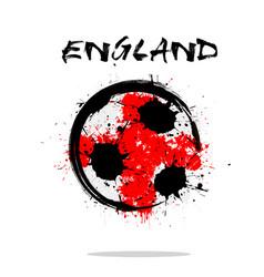 flag of england as an abstract soccer ball vector image