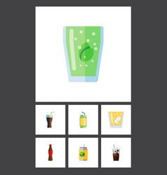 Flat icon beverage set of beverage cup vector