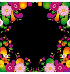 Flower frame for the poster of Hawaiian night vector image