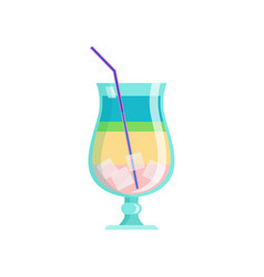 glass modern tasty cocktail colorful slice of vector image