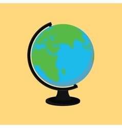 globe single isolated with yellow background flat vector image