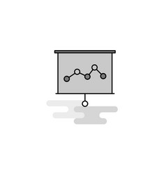 graph chart web icon flat line filled gray icon vector image