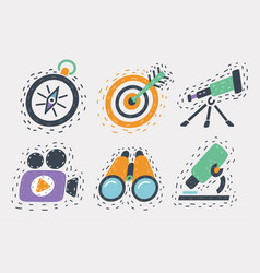 hand drawn icons set vector image