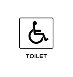handicap signage wc invalid icon disable vector image