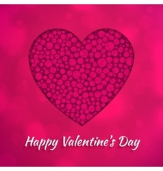 Happy Valentines Day greeting card design concept vector image
