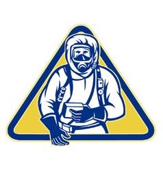 Hazchem suit symbol vector