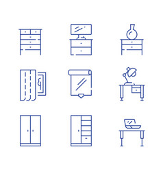 Home furniture interior design cloth storage vector