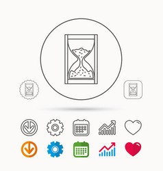 Hourglass icon sand time sign vector