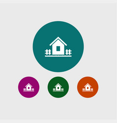 house icon gardening vector image