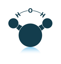 icon chemical molecule water vector image