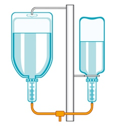 Intravenous dropper vector image