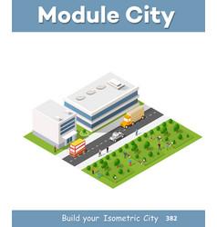 isometric set module vector image