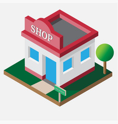 isometric shop open 24 hour vector image