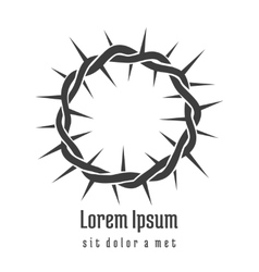 Jesus Crown of Thorns Logo vector