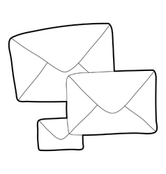 Letter icon outline style vector