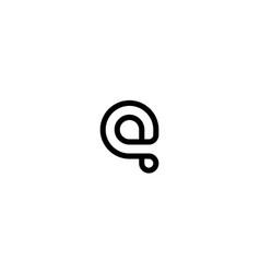 lowercase q logo design concept vector image