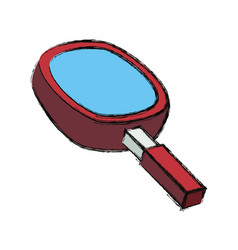 Magnifying glass 3d vector