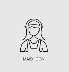 Maid icon vector