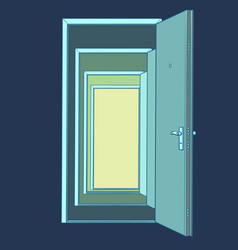 many open doors template vector image
