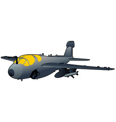 Modern military jet vector
