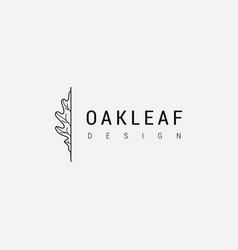 oak leaf logo design template vector image