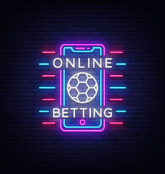 online betting neon sign sports betting vector image