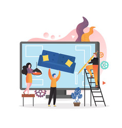 online interior design concept for web vector image