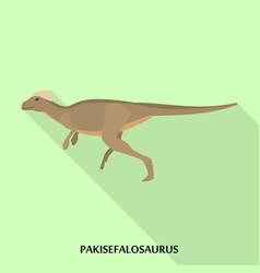pakisefalosaurus icon flat style vector image