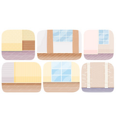 part premises living room or corridor beige vector image