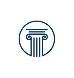 Pillar logo template for lawyer firm vector
