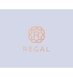 Premium letter R logo icon design Luxury vector image